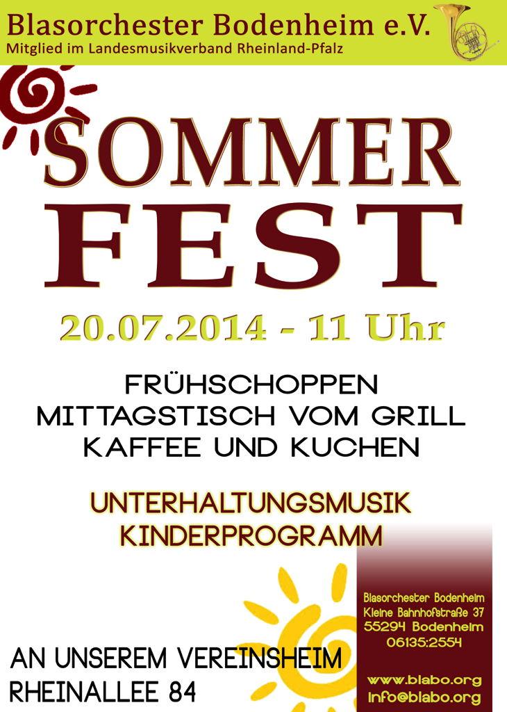Flyer BlaBo Sommerfest 2014